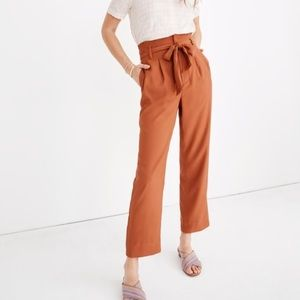 Pants - Burnt Orange Paper Bag Waist Pants. Size S